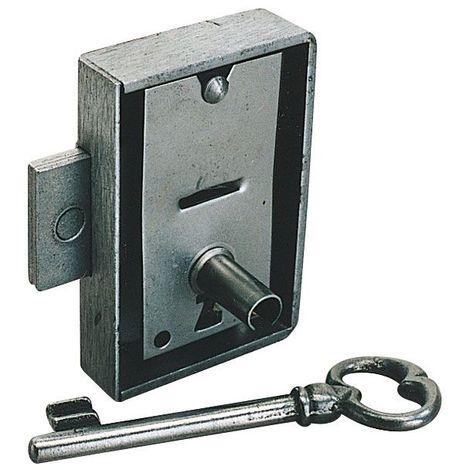 Serrure d'armoire - Axe : 40 mm - Sens : Droite - Largeur : 65 mm - ITAR