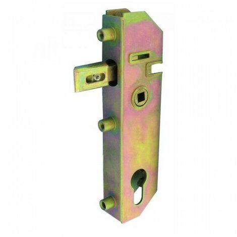 Serrure de portail encastrée axe 30 mm pour cylindre européen - GJ70
