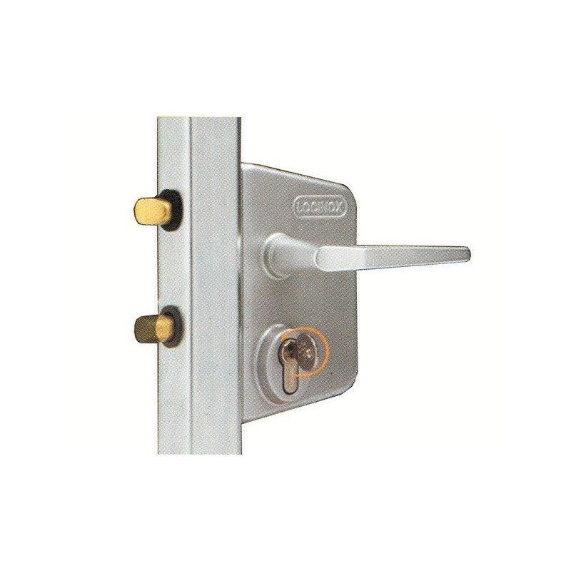 G/âche /électrique r/éversible en applique pour portillon Noir 9005