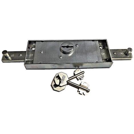 Serrure de Rideau Roulant 156 X 56 mm MOTTURA Double Panneton | S'entrouvrant