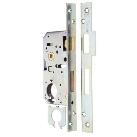 Serrure de sûreté à larder axe à 50 mm pour cylindre de Ø 26 mm têtière de 25 mm en bouts carrés