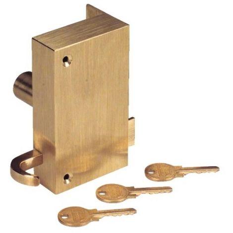 Serrure électrique à tirage et à cylindre en applique droite Ensemble 15