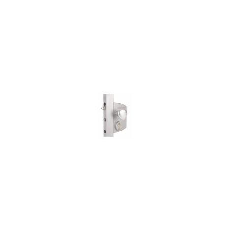 Serrure électrique avec fonctionnement à émission pour profils carré de 30 à 40mm,poignée ronde en alu. - LIKQ3030U2LZILV.