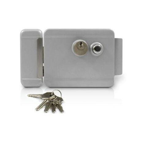 Serrure électrique pour porte ou portillon - Réversible - 3 clés