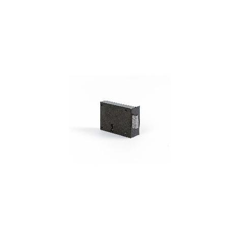 Serrure en applique à pêne dormant noir 140M - Droite/Gauche