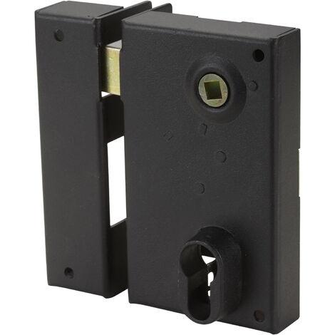 Serrure en applique Bricard monopoint verticale a fouillot Ouvrant Gauche 35 mm Pour grilles et portails