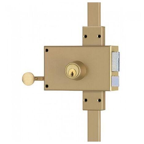 Serrure en applique horizontale 3 points à cylindre rond - VEGA main gauche