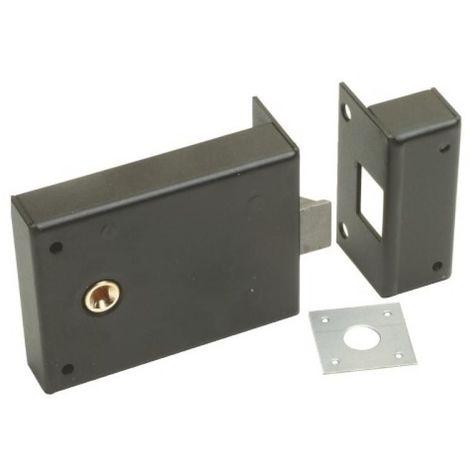 Serrure en applique horizontale à fouillot axe 83 mm - Bec-de-cane