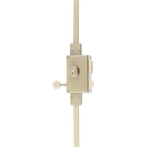 Serrure en applique verticale 3 points à cylindre rond - VEGA main droite
