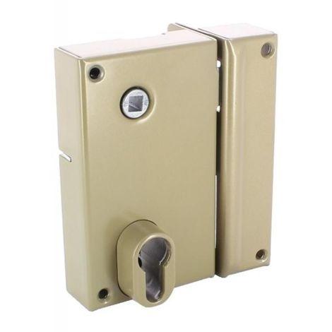 Serrure en applique verticale à fouillot - Pêne dormant et demi-tour - A cylindre européen - 7216 main droite