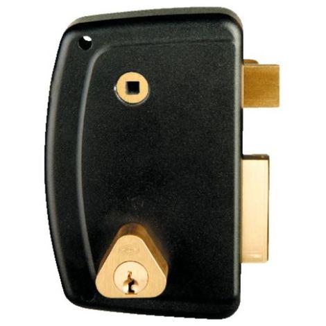 Serrure en applique verticale à fouillot - Pêne dormant et demi-tour - A cylindre rond - Match main gauche