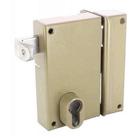 Serrure en applique verticale à tirage - Pêne dormant et demi-tour - A cylindre européen - 7215 main gauche