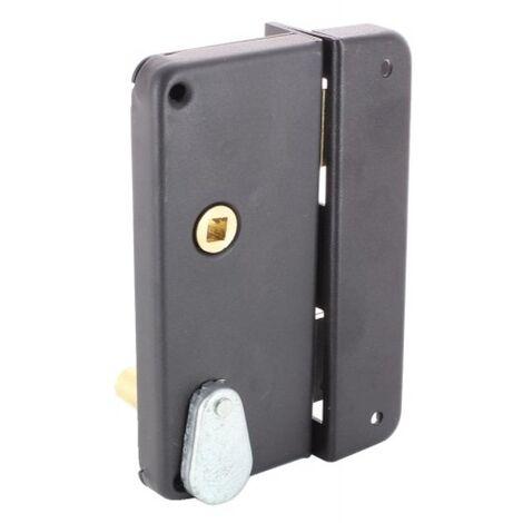 Serrure en applique verticale extra plate à fouillot - Pêne dormant et demi-tour - A gorges - 4462 main droite