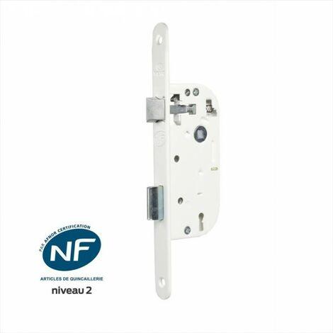 Serrure encastrée BRICARD certifiée NF, à clé, axe 40 mm