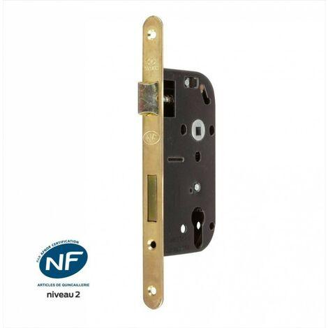 Serrure encastrée BRICARD certifiée NF, pour cylindre, axe 50 mm