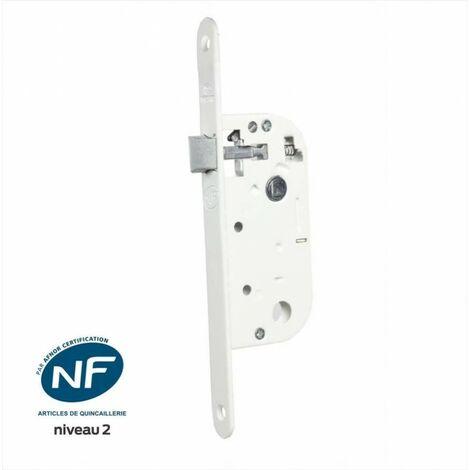Serrure encastrée BRICARD, certifiée NF,pour porte de salon/cuisine, axe 40 mm