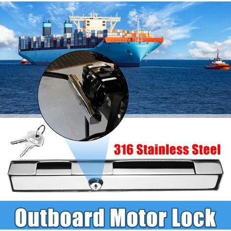 Serrure extérieure marine Serrure de moteur de bateau Serrure antivol Acier inoxydable 316 résistant