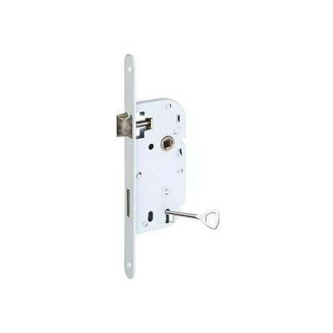 Serrure mono-point à encastrer avec clé L - axe 40mm et carré 7mm Klose Besser x10