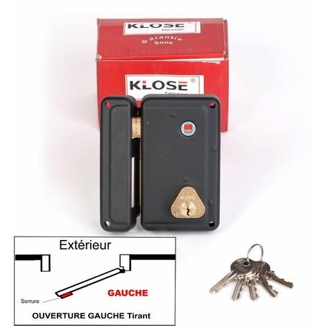 Serrure Monopoint en Applique a Fouillot Verticale 130x75mm - ( idem jpm cisa ) 3 clés