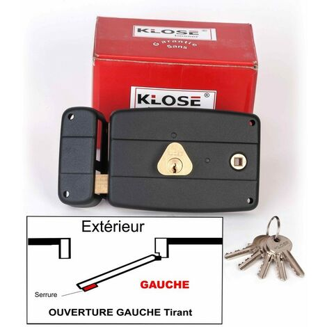 Serrure Monopoint KLOSE besser en Applique à Fouillot Horizontale 140x92mm - (Similaire JPM CISA....) 3 clés | 50mm - Droite