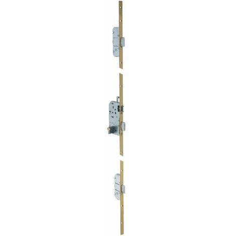 Serrure multipoint bronze à fouillot - Clé I - Axe à 50 mm - Trilock 5000 A2P* - Vachette
