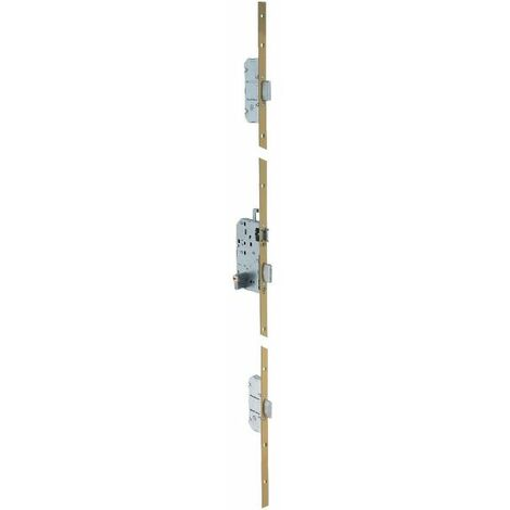 Serrure multipoint bronze à fouillot - Clé I - Axe à 50 mm - Trilock 5000 standard - Vachette