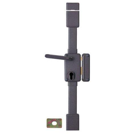 Serrure multipoint en applique marron à fouillot - Clé I - Axe à 45 mm - Beluga CP - Thirard