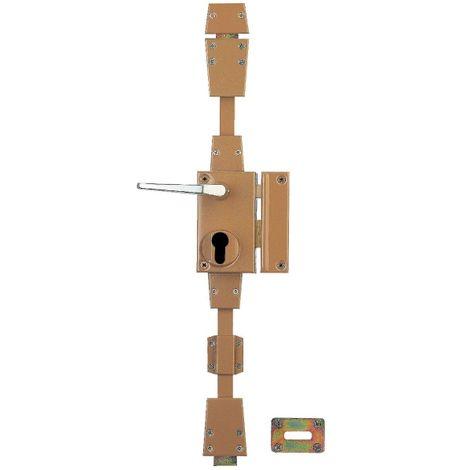 Serrure multipoint en applique marron à fouillot - Clé I - Axe à 45 mm - Targa - Thirard