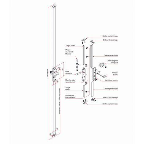 Serrure multipoint - spécial volet/garage - TIRARD