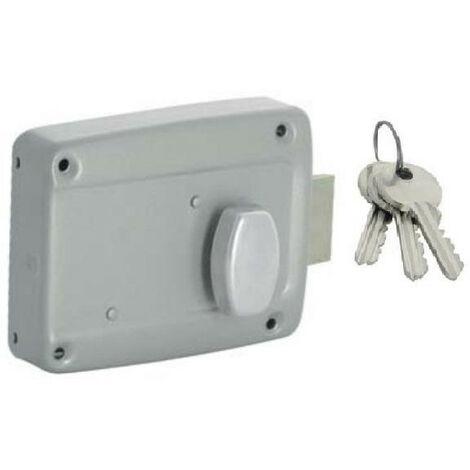 Serrure porte de garage 105 horizontale, axe à 70 à bouton poussoir ISEO - plusieurs modèles disponibles