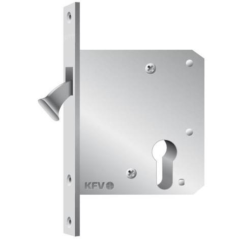 Serrure pour porte coulissante WC,D55,20kt,DL/DR