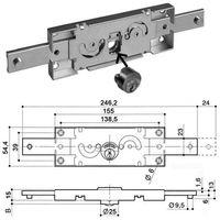 Serrure rideau métallique PREFER A211.0012 - plusieurs modèles disponibles