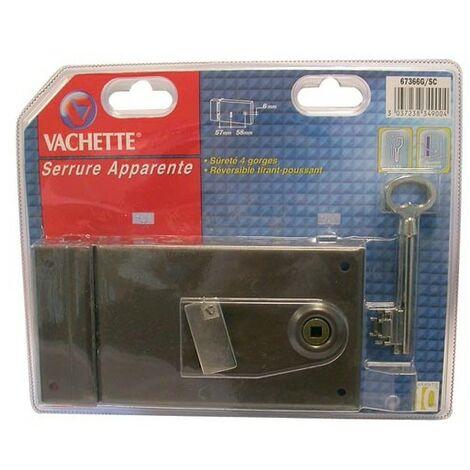Serrure sureté 4 gorges horizontale 67486 Vachette - plusieurs modèles disponibles