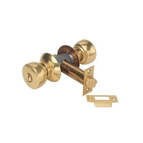 Serrure tubulaire laiton V6500 P1SJ VACHETTE à condamnation Axe 63.5mm - Forme standard Rosace J -19244000