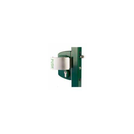 Serrure type industriel anti-panique, profil carré 80mm-100mm, cylindre s'entrouvant GSX poignée 3006PUSH - LPKQ8080U2L.