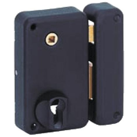 Serrures de portail en applique verticales à fouillot à cylindre européen main gauche