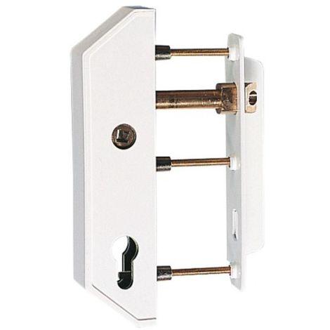 Serrures verticale à fouillot à cylindre européen pour portail cadre 30 mm finition blanc RAL 9016