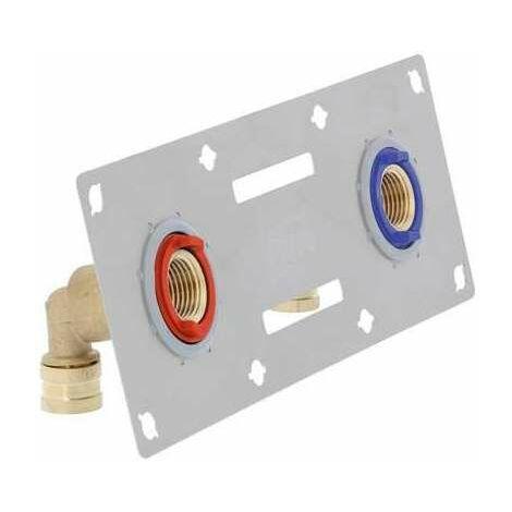 Sertifix double entraxe 150 mm - 13 x16 mm - À sertir - PB tub