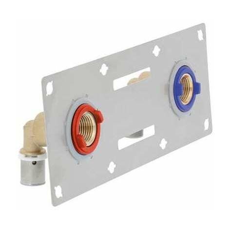 Sertifix double entraxe 150 mm - 16 mm - À glisser - PB tub