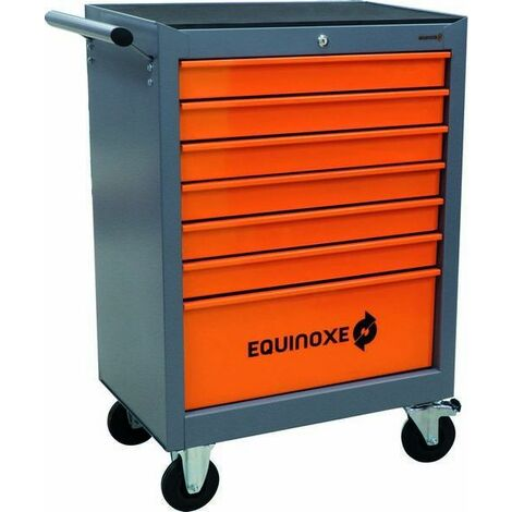 SERVANTE 7 TIROIRS EQUINOXE 09248 + 4 TIROIRS OUTILS MODULES PLASTIQUES SODISE-25042 - -