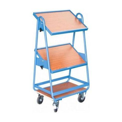 Servante à bacs 3 plateaux bois inclinables - 200 kg