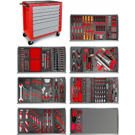 Servante atelier complète 512 outils large MW-Tools MWE512G2