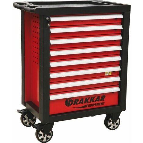 Servante complète Drakkar 249 outils dans module finition métal