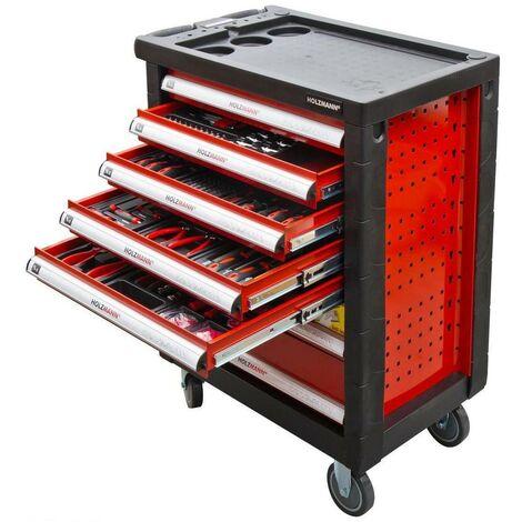 Servante d'atelier 6 tiroirs + 390 outils WW790W - Holzmann - -