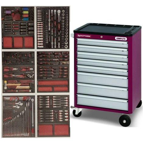 Servante d'atelier 8 tiroirs et 276 outils COMPLETO EVA KRAFTWERK 8 tiroirs