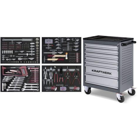 Servante d'atelier B107 avec Assortiment d'outils COMPLETO EVA 339 pcs KRAFTWERK 1102.8000
