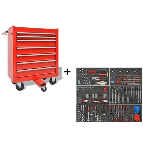 Servante d'atelier / Caisse à Outils 7 tiroirs + 1197 outils
