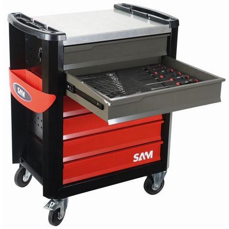 SAM Servante 6 tiroirs SERVI-630N + 220 outils = CPP-220M4Z