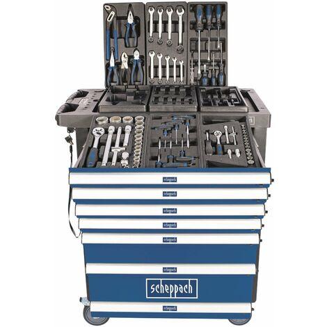 Servante d'atelier équipée de 70 outils Scheppach TW1100