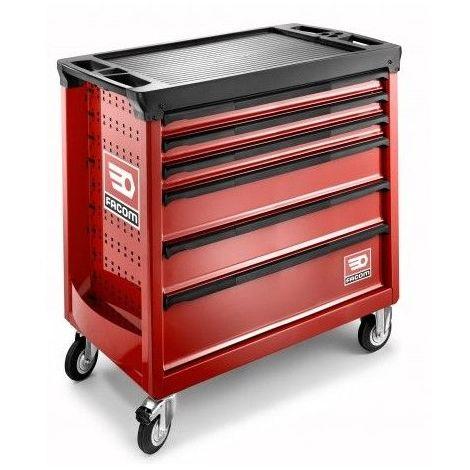 "main image of ""Servante d'atelier Facom ROLL rouge Extra-Large 6 tiroirs 4 modules par tiroir 6 tiroirs"""